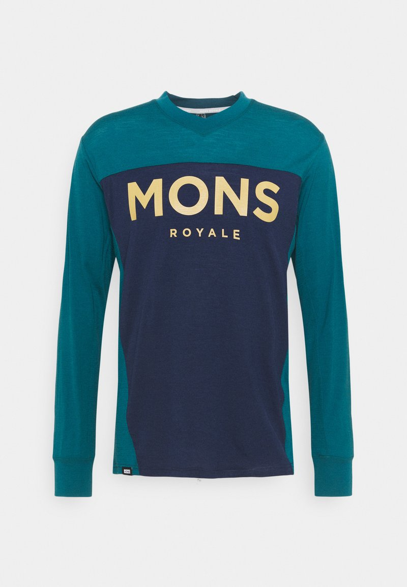 Mons Royale - REDWOOD ENDURO - Top sdlouhým rukávem - deep teal/navy