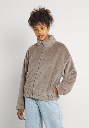 CROPPED JACKET - Winter jacket - washed taupe