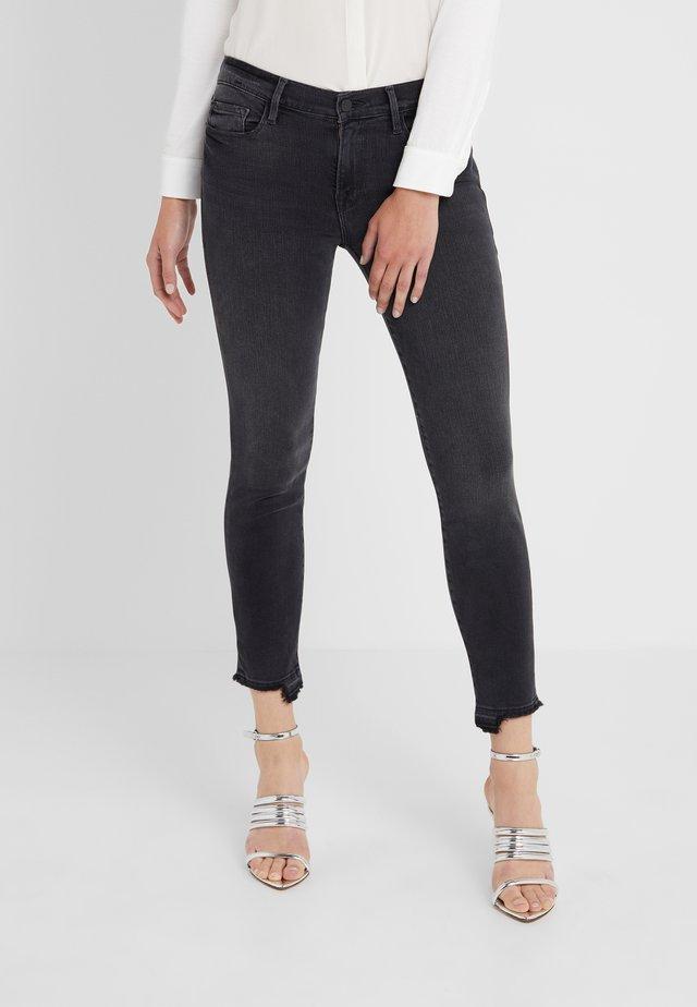 DE JEANNE CROP RELEASED CUT HEM - Jeans Skinny - micoy