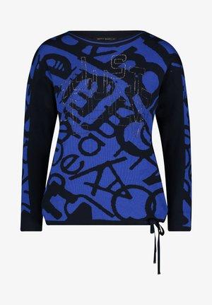 MIT JACQUARD - Jumper - blue/ dark-blue