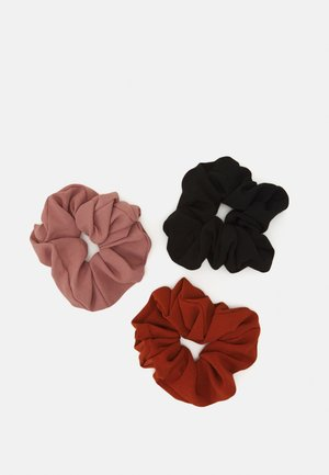 3 PACK - Hårstyling-accessories - black/light pink/orange