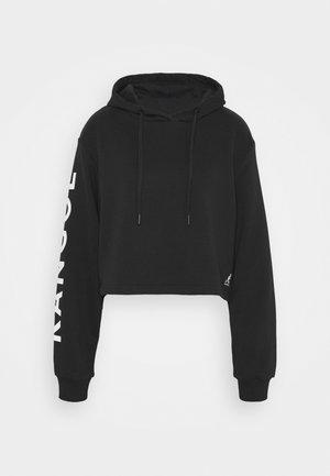 MAINE CROPPED HOODY - Sweatshirt - black