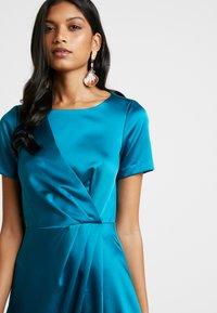 Closet - SHORT SLEEVE WRAP OVER DRESS - Cocktail dress / Party dress - teal - 5