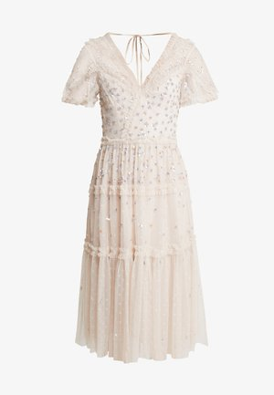 RUFFLE GLIMMER DRESS - Koktejlové šaty/ šaty na párty - pearl rose
