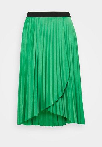 PLEATED WRAP SKIRT - Falda cruzada - green