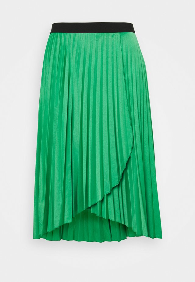 PLEATED WRAP SKIRT - Jupe portefeuille - green