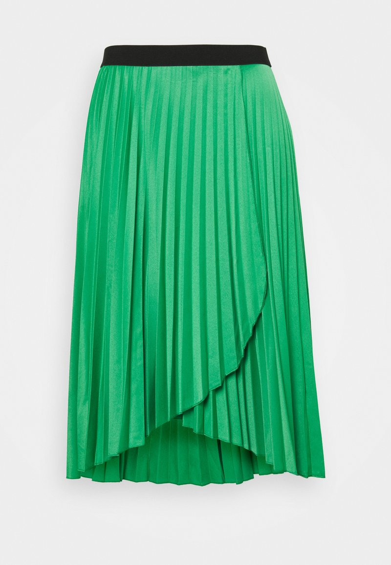 CAPSULE by Simply Be - PLEATED WRAP SKIRT - Jupe portefeuille - green