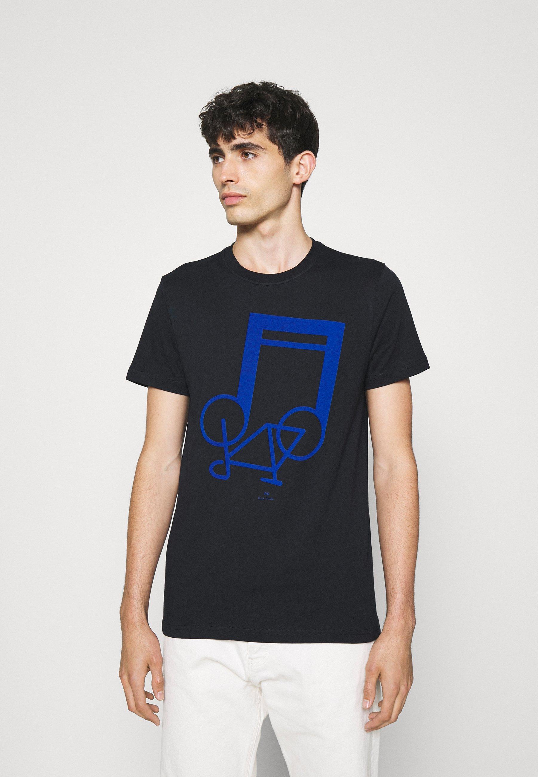 Homme SLIM FIT NOTEBIKE - T-shirt imprimé
