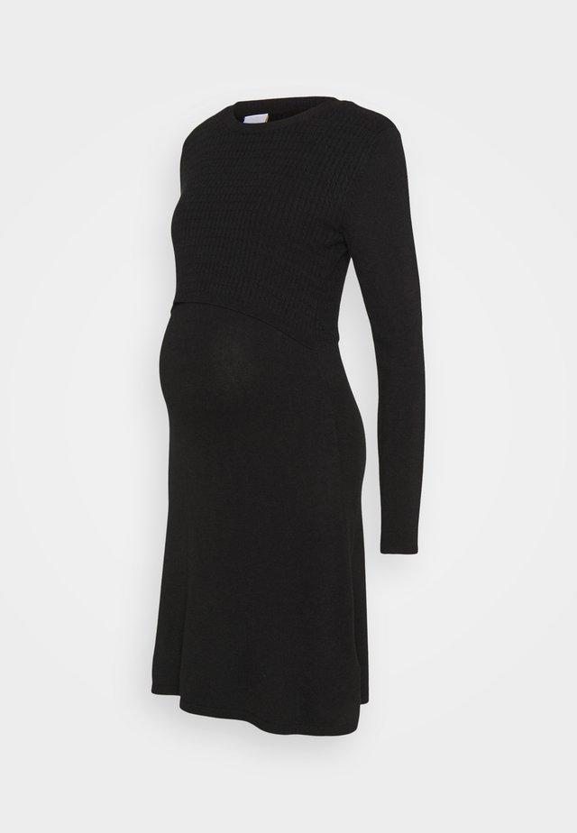 MLSTELLA JUNE DRESS - Vestito di maglina - black