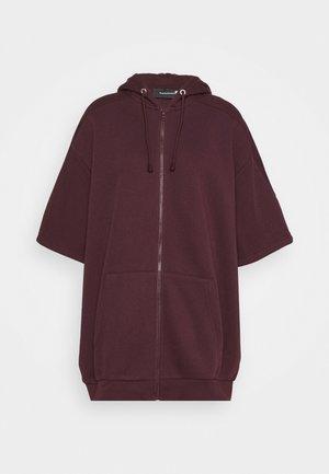 BOUNCE ZIP HOOD - Zip-up hoodie - mahagony