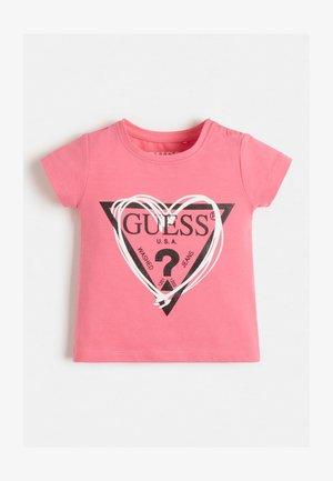 GLITZER-FRONTLOGO - T-shirt print - weiß