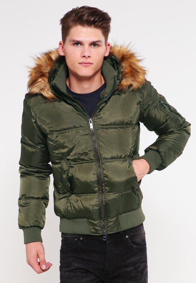 Gewatteerde jas - green