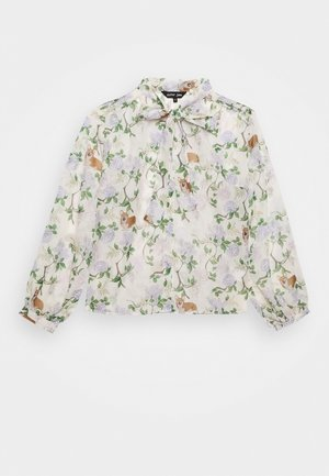 ORCHARD BLOOM BOW - Button-down blouse - cream