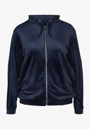 MIT REISSVERSCHLUSS  - Zip-up hoodie - blue