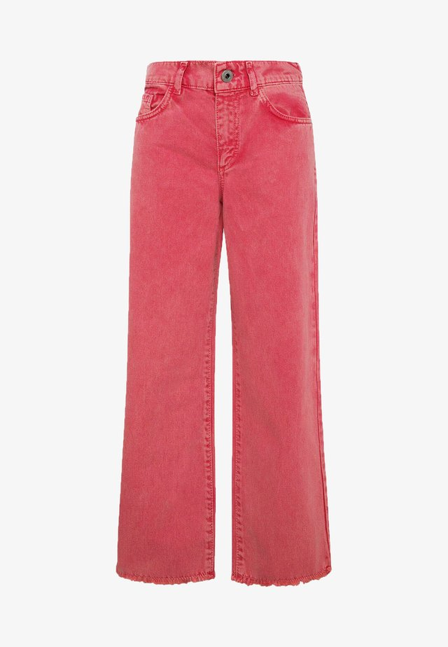 GRACE CULLOTE - Jeans bootcut - rot