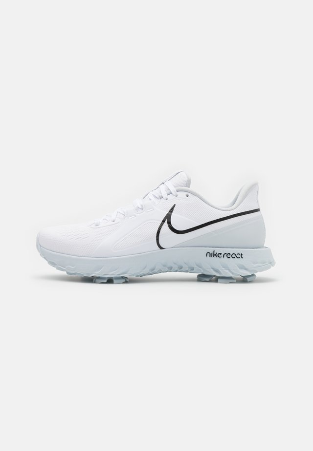 REACT INFINITY PRO - Golfskor - white/black/metallic platinum