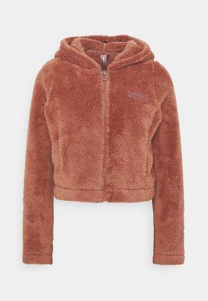 ONPJOMO FLUFFY SHORT HOOD - Training jacket - withered rose