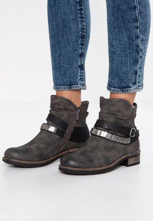 Cowboy/biker ankle boot - anthrazit