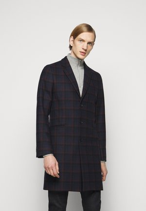 MENS OVERCOAT - Classic coat - dark blue/red