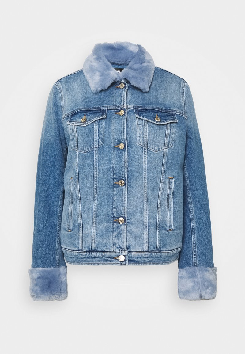 7 for all mankind - MODERN TRUCKER ON POINT - Denim jacket - light blue