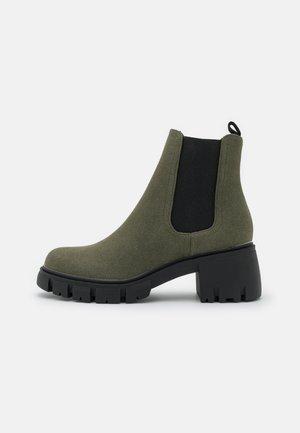 VEGAN KAIA COMBAT GUSSET BOOT - Classic ankle boots - khaki