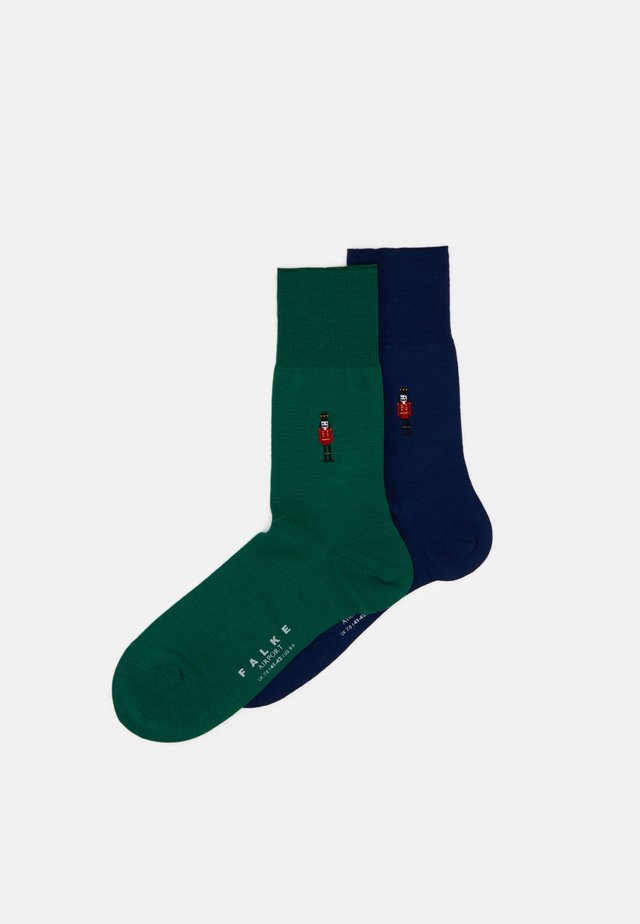 AIRPNUTCBUNDLE 2 PACK - Sokker - dark blue/green