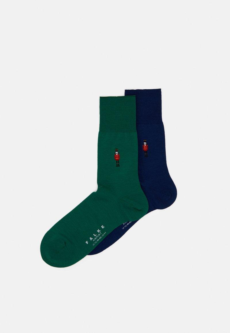 FALKE - AIRPNUTCBUNDLE 2 PACK - Socks - dark blue/green
