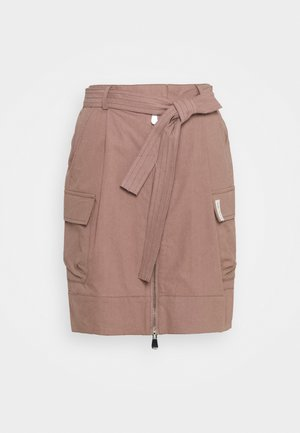 BROOKE SHORT SKIRT - Pencil skirt - brownie