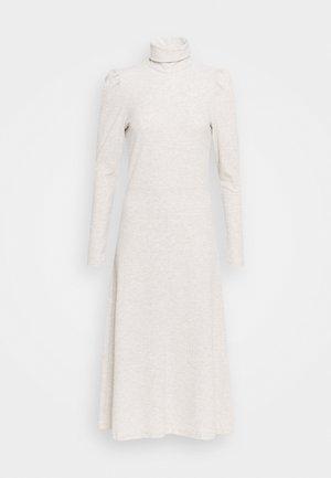 ONLNELLA ROLL NECK DRESS - Jumper dress - pumice stone/melange