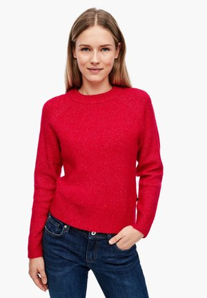 RAGLAN - Jumper - red melange