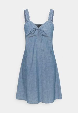 VMAKELA FLOU STRING - Denim dress - medium blue denim