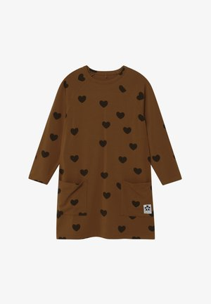 BABY HEARTS - Jersey dress - brown