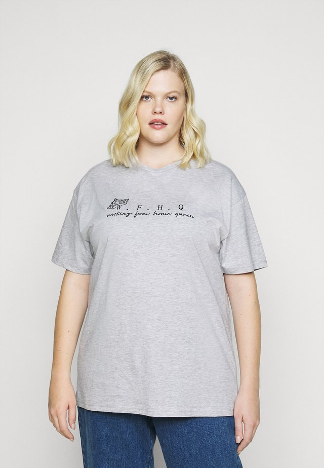 SLOGAN T-SHIRT - T-shirt imprimé - grey
