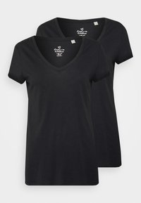 Esprit - 2 PACK - Basic T-shirt - black - 4