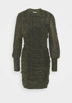 VITAFT DRESS - Shift dress - black/ivy green