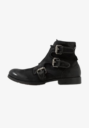 CLASH - Cowboy/biker ankle boot - nero