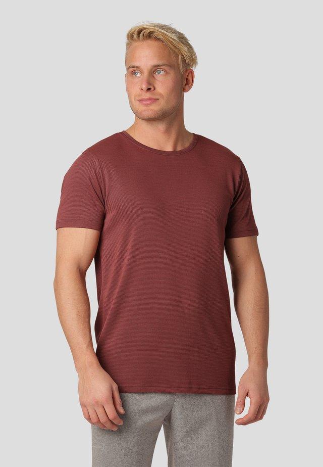 Print T-shirt - titian brown