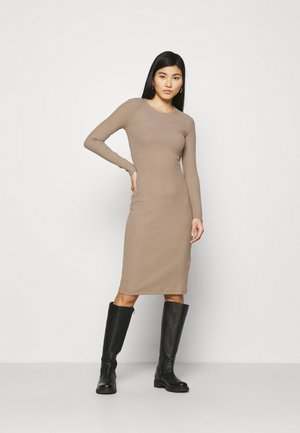 Gebreide jurk - light brown