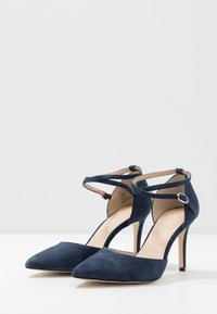 Anna Field - LEATHER PUMPS - Korolliset avokkaat - dark blue - 4