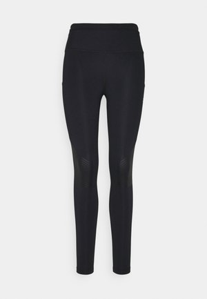EPIC LUXE TRAIL - Tights - black/dark smoke grey/silver