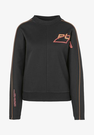 Sweatshirt - black-fizzy orange