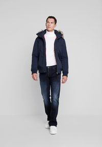 TOM TAILOR DENIM - TRIMMED BOMBER - Winter jacket - sky captain blue - 1