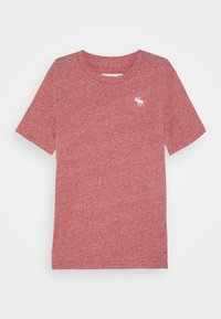 Abercrombie & Fitch - SOLID BASICS - Print T-shirt - red - 0