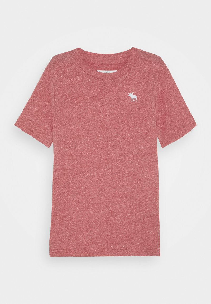 Abercrombie & Fitch - SOLID BASICS - Print T-shirt - red