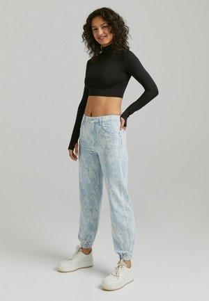 Pantaloni cargo - blue denim