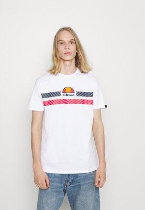GLISENTA TEE - Print T-shirt - white
