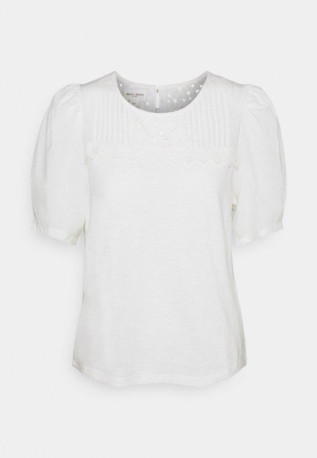 CLEO - T-shirt print - off white