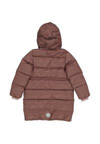 Wheat - Winter coat - powder plum dots - 1