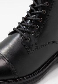 Topman - ORBIS HERITAGE BOOT - Stivaletti stringati - black - 5