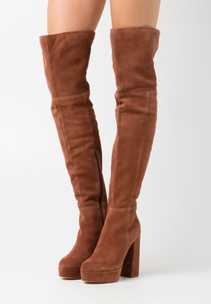 LEATHER - High Heel Stiefel - rust